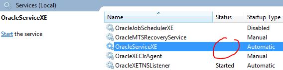 ORA-12560: TNS:protocol adapter error — Oratable